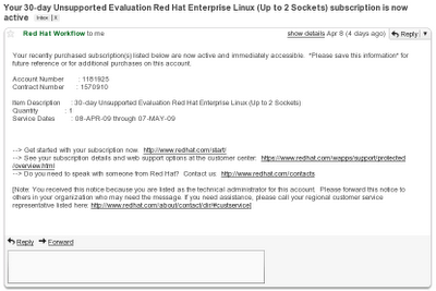rhel 5.3 evaluation download mail