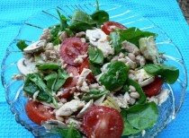 Tuna and Spinach Salad Food Recipes
