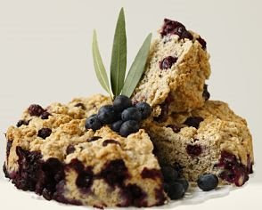Low Fat Blueberry Oatmeal Cake