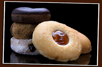 brown donuts stacked