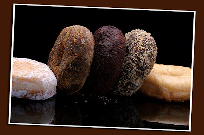 choco flavored donuts