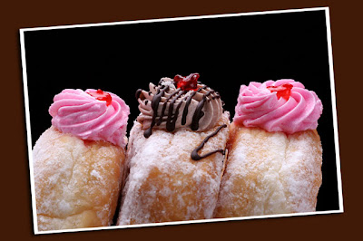 cream filled donuts' crowns