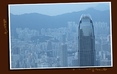 2 IFC hong kong, as seen from victoria peak