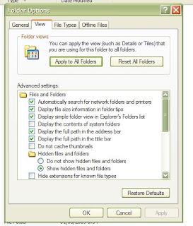 Kembalikan File Terhidden Virus 3
