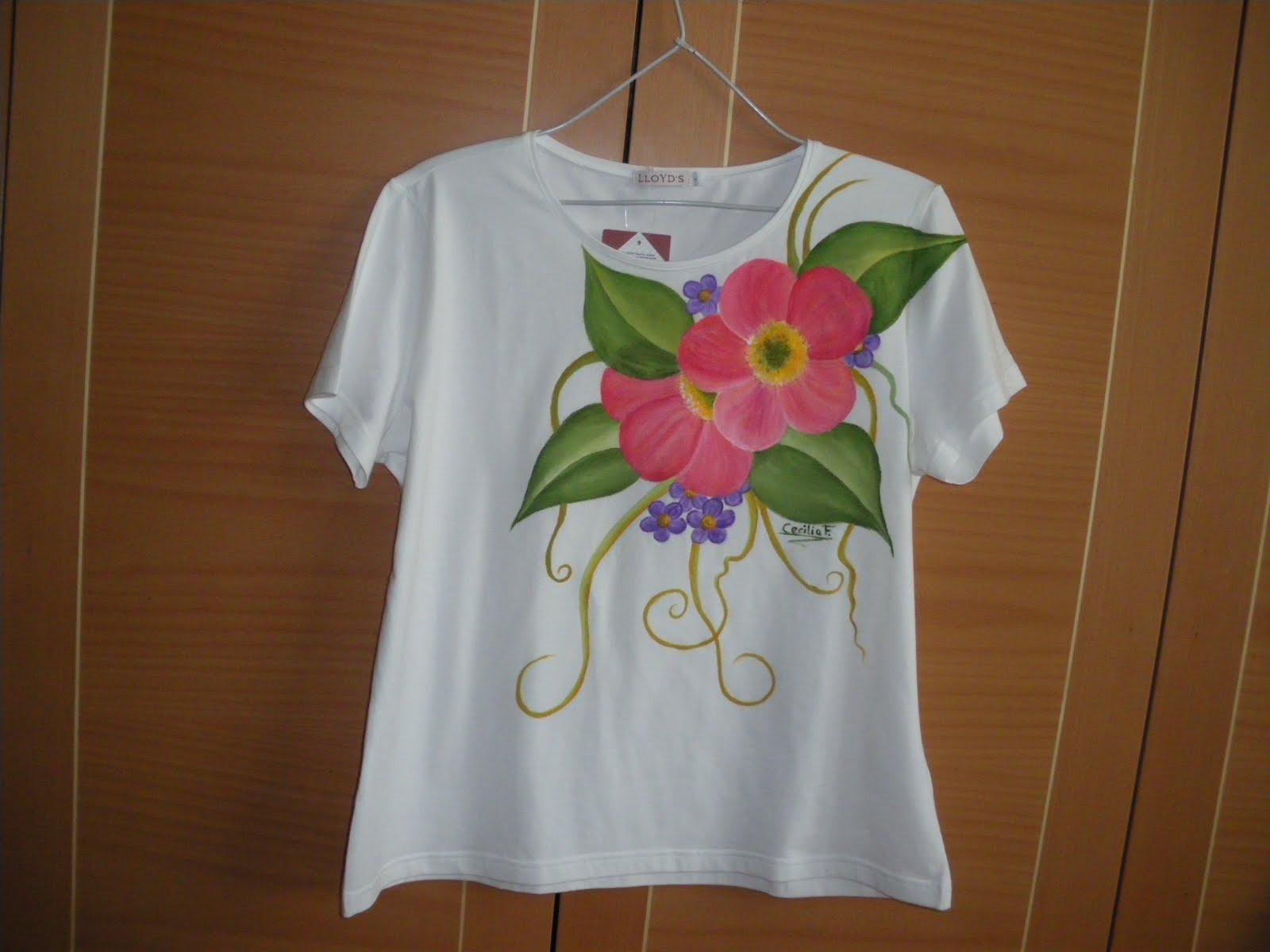 Artesania pintura en tela y manualidades camisetas pintadas y listas para entregar - Plantillas para pintar camisetas a mano ...