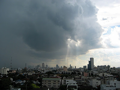 September rainfall in Bangkok