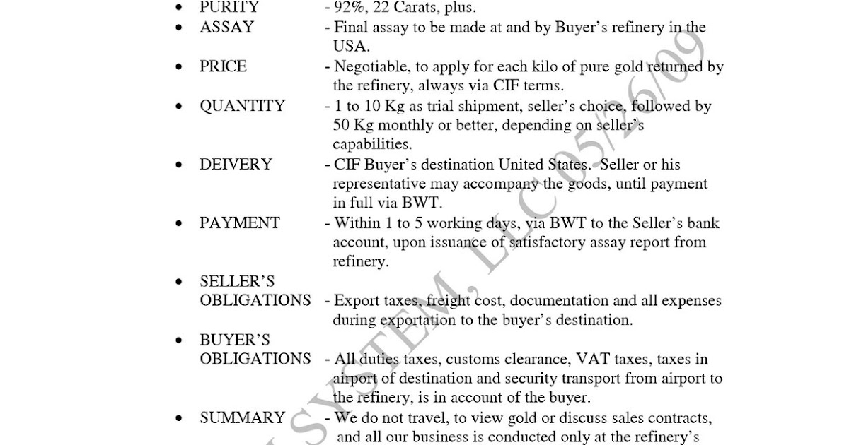 Make money selling gold soft letter of intent loi for gold spiritdancerdesigns Choice Image