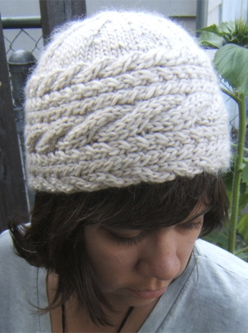 ABC Knitting Patterns - Hat with Cable. - frontpage