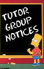 TUTOR GROUP NOTICES