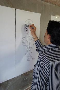 harini-caricaturing