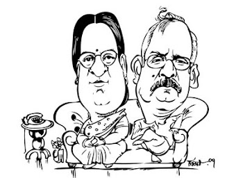 a couple caricature..