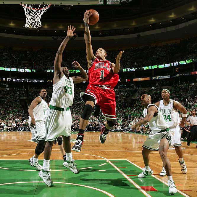 derrick rose dunking on dragic. derrick rose shooting. derrick