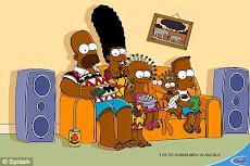 Los Simpson se vuelven africanos, esta familia esta ahora más morenitos y menos amarillos