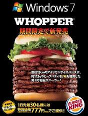 Burger King ha sacado una 'whopper' de siete pisos (12,7 centímetros) podrá degustarse solo 7 dias