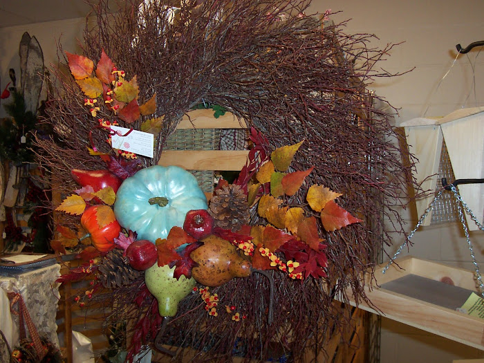 "24"" fall twig wreath"