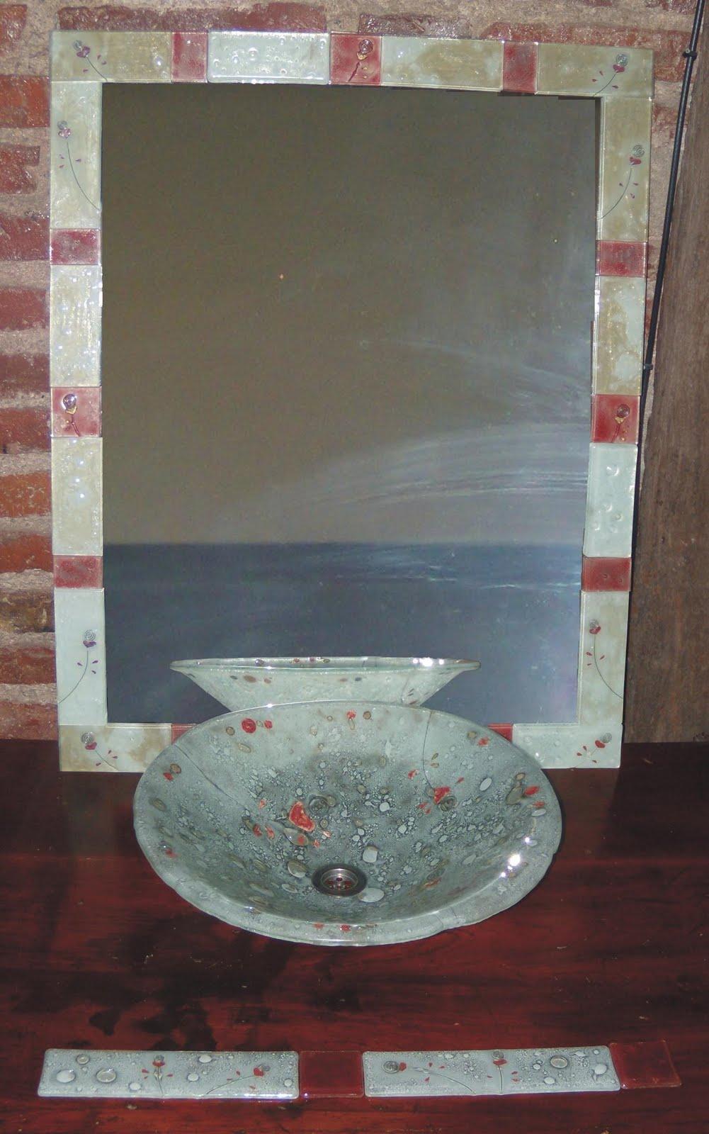 Bachas Para Baño Nuevas:senestrari vitreaux: Conjunto Baño bacha + espejo + guarda