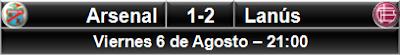 Arsenal Sarandí 1-2 Lanús