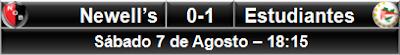 Newell's 0-1 Estudiantes