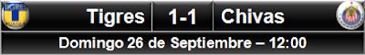 Tigres 1-1 Chivas