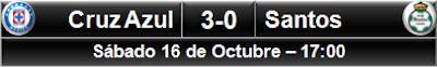 Cruz Azul 3-0 Santos