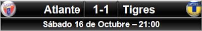 Atlante 1-1 Tigres