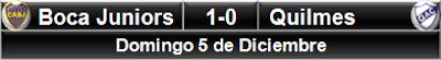 Boca Juniors 1-0 Quilmes
