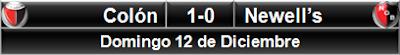 Colón 1-0 Newell's