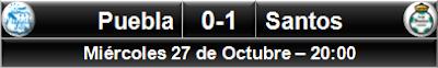 Puebla 0-1 Santos