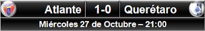 Atlante 1-0 Querétaro