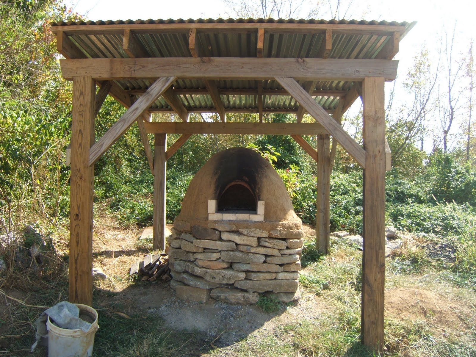 Rising earth cob oven for How to make a cob oven