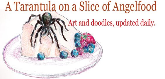 A Tarantula on a Slice of Angel Food