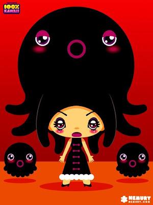 An Octopus Girl in the Nemuryland by TsuyaTsuya Nemury,100 percent kawaii,100%カワイイ, 100パーセントカワイイ, つやつやビジョン つやつやネムリー