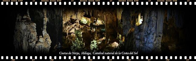 Interior de la Cueva de Nerja, Málaga, Costa del Sol