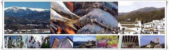 mix de imágenes de La Axarquía malagueña