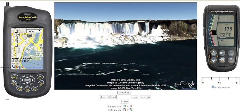 Paraglider-Simulation-Google-Earth