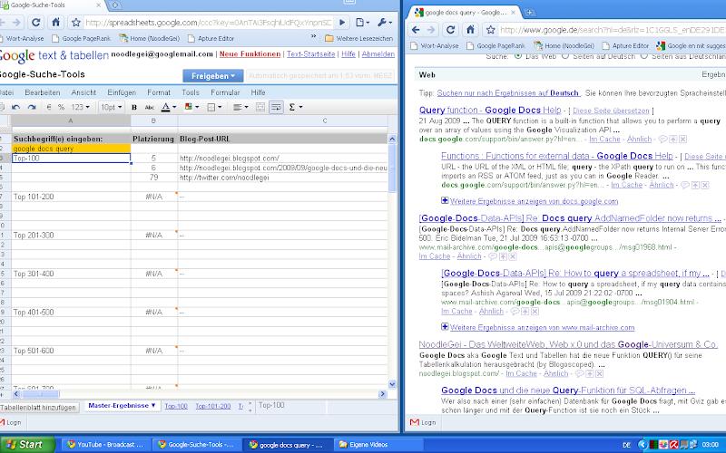 Google-Docs-Ranking-Tool