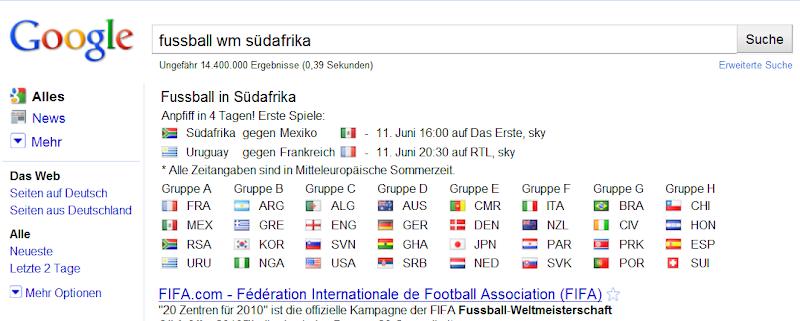 Fussball-WM-google-suche