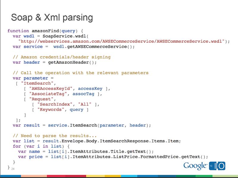 Google-Apps-Script-SOAP-XML-Amazon