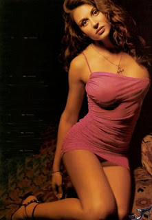 sexy Cerina Vincent in short dress