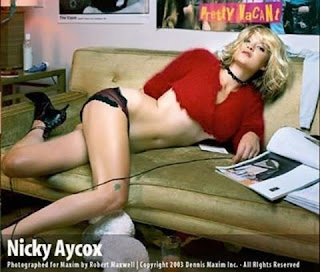 Nicki Aycox in black panties
