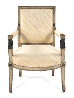 A Directoire Painted Wood Fauteuil,