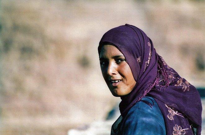 Niña pastora en Petra