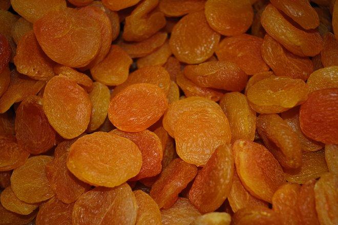 Fruta seca en el Mercado dos Lavradores