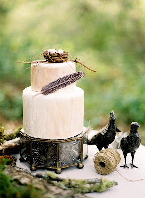 Birds nest wedding cake by Erica OBrien | Hamden, CT