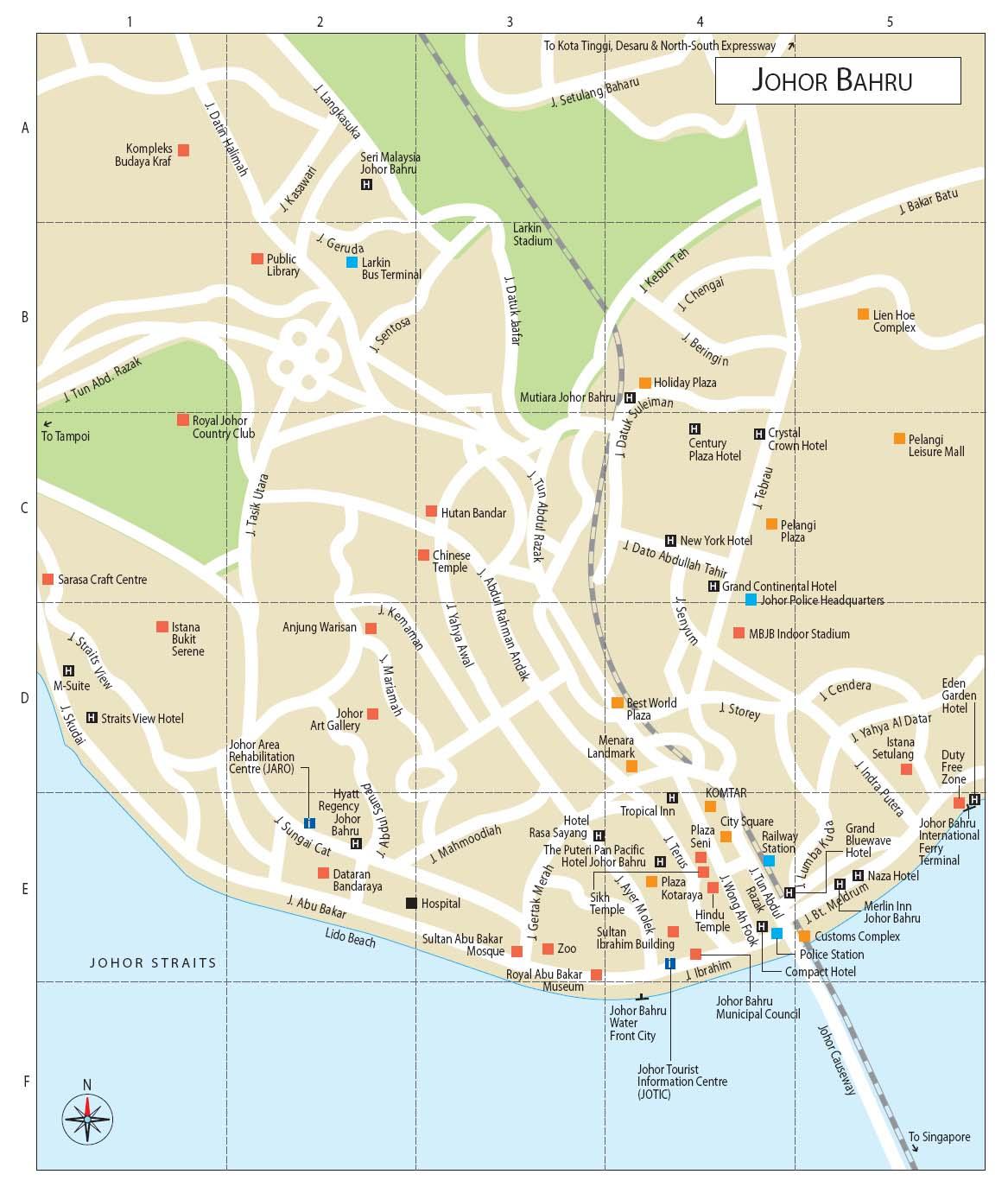 Duke Amiene Rev: Tempat-tempat Menarik di Johor Bahru