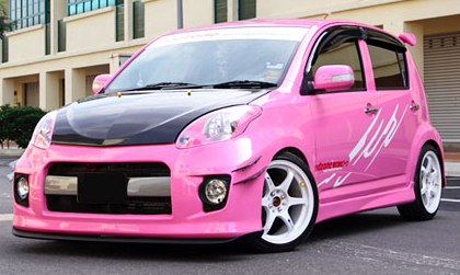 Pink Myvi for the ladies