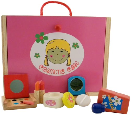 wooden cosmetic play set from Estia $65.99