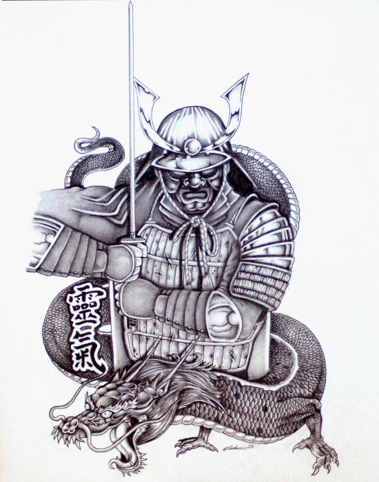 Tattoo Design Japanese Samurai or warrior.. Japanese art and motif as well