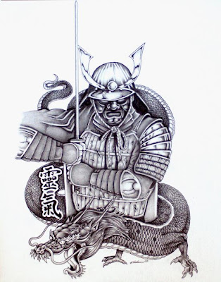warrior tattoo designs. Tattoo Design Japanese Samurai