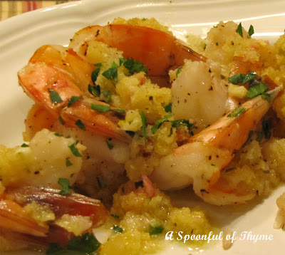 Spoonful of Thyme: Baked Shrimp Scampi